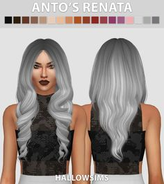 Sims 4 CC's - The Best: Hair Recolors by HallowSims