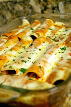 Chicken enchiladas. These sound so good. Everything from this blog sounds good!