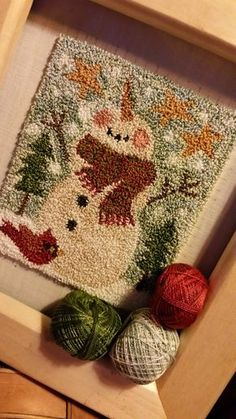 Bliss punch needle Plus Wool Applique Patterns, Punch Needle Patterns, Rug Hooking Patterns, Print Patterns, Cross Stitching, Cross Stitch Embroidery, Hook Punch, Latch Hook Rugs, Craft Punches