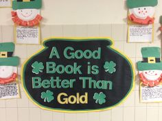 St. Patrick's Day wall decor at school...