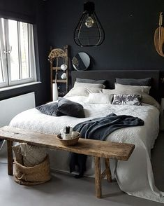 40 Masculine And Modern Man Bedroom Design Ideas is part of Men's bedroom design - It is a preconceived notion, that if you are a man, in your bedroom, your mattress is on the floor, […] Men's Bedroom Design, Home Decor Bedroom, Bedroom Furniture, Bedroom Bed, Bedroom Interiors, Bedroom Inspo, Bedroom Inspiration, Bench In Bedroom, Night Bedroom