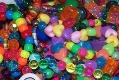 Rainbow Brite Kandi Bracelets  Small Grab Bag by coleydinosaur