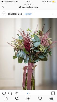 Winter Bridal Bouquets, Simple Wedding Bouquets, Bright Wedding Flowers, Dusty Rose Wedding, Rustic Wedding Flowers, Bridal Flowers, Flower Bouquet Wedding, Floral Wedding, Flower Centerpieces