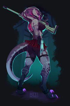 Female Monster, Fantasy Monster, Fantasy Character Design, Character Art, Humanoid Creatures, Snake Art, Furry Girls, Anime Furry, Character Design