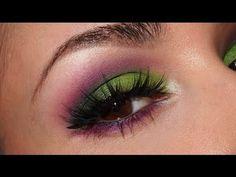 Violet Acid Eyes - #violet #acideyes #limeshadow #plumshadow #colorfuleyes #eyemakeup #makeuptutorial #eyetutorial #julie g - bellashoot.com