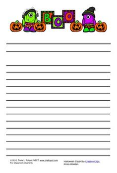 Chalkspot Fall Regular Lined Writing Paper PacketThis packet includes two files filled with writing and drawing paper for your students to use when they write about fall.  The first file, Fall Regular Lined Writing Paper (Landscape Orientation), includes 28 total pages of paper with fall-related graphics and primary writing lines.