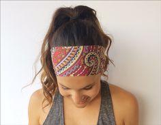 Yoga Running Headband - Wild Abandon Print - Workout Headband - Fitness Wide Nonslip Headband by TrueNorthCollection on Etsy https://www.etsy.com/listing/192743606/yoga-running-headband-wild-abandon-print