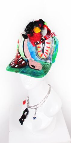 019bbb453ca Monster Pom Pom hat by artist Scooter LaForge for Patricia Field ARTFASHION