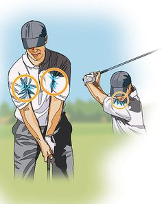 STRAIGHT HITTER: Tuck Your Shirt In Most amateurs think that to hit the ball far, they have to swing the clubhead as far back as possible. Thus, long after their body has stopped turning on the backswing, they're still moving their arms. Now they have to find a way to sync their arms up with their body on the downswing, which is virtually impossible to do in the quarter of a second it takes to hit the ball. To generate maximum clubhead speed, your arms and club must arrive at the top at the…
