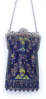 Antique 1920 Mandalian Enamel Mesh Purse Bag Enameled Filigree Fancy Frame | eBay...LUV!!!!!!