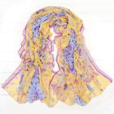 $5.77 Stylish Floral Printing Embellished Scarf For Women