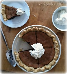 Minnie's Chocolate Pie - I know some people I could make this for!