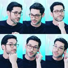 Tom Ellis is adorable ❤️ Post Malone, Dramas, I Fall In Love, My Love, Tom Ellis Lucifer, Netflix, The Ancient Magus Bride, Morning Star, Handsome Actors