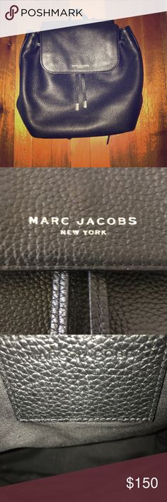 Black Marc Jacobs Backpack The cutest! Soft leather and very lightly used. Marc Jacobs Bags Backpacks