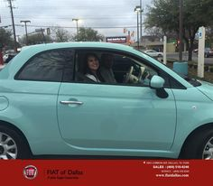https://flic.kr/p/DT1MGE | Congratulations Taylor on your #FIAT #500 from Donald Walker at Fiat of Dallas! | deliverymaxx.com/DealerReviews.aspx?DealerCode=F741