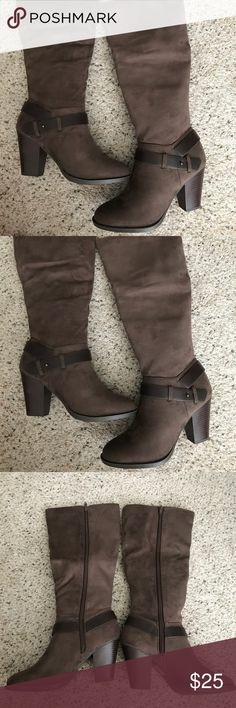 Charlotte Russe Terra Boots Charlotte Russe Terra boots in size 7--color brown. BNIB. No trades. Purchased two years ago & has never been touched. Charlotte Russe Shoes Heeled Boots