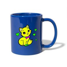 Geschenke Shop   Herzige Katze - Tasse einfarbig Shirt Diy, Bunt, Tableware, Cat Art, Good Mood, One Color, Funny, Dinnerware, Tablewares