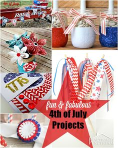 16 Fabulous and Fun Fourth of July Projects Patriotic Crafts, Patriotic Decorations, Holiday Crafts, Holiday Fun, Holiday Ideas, Summer Preschool Activities, Easy Crafts, Crafts For Kids, Happy 4 Of July