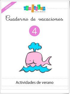 Cuaderno de vacaciones de verano 4 para Educación Infantil (Edufichas.com)