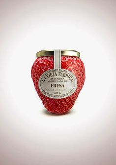 great strawberry jam packaging. wouldn't you buy it?