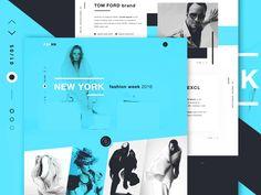 FSHNN - Fashion landing page concept by Robert Berki