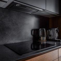 - Room Design On Isntagram Tv In Kitchen, Home Decor Kitchen, Kitchen Furniture, Kitchen Interior, Interior Design Living Room, Brown Kitchens, Custom Home Designs, Design Moderne, Furniture Styles
