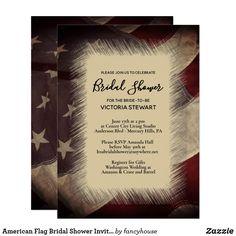 American Flag Bridal Shower Invitation