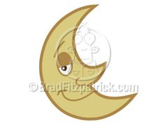 Cartoon Moon Clipart