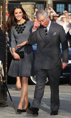 Kate with her father-in-law