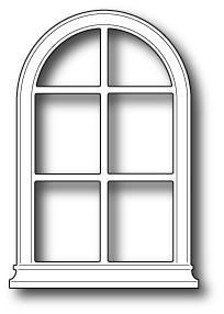 Poppystamps Dies, Small Madison Arched Window