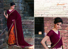 Browse Our Laxmipati Maroon, Dark Orange and Brown Jute Georgette Saree for your special Occasion like Casual, Daily, Engagement, Evening, Office, Party and Wedding Wear. #Catalogue #GURJARI Price - Rs. 2192.00 Visit for more designs@ www.laxmipati.com #ReadyToWear #OccasionWear #Ethnicwear #FestivalSarees #Fashion #Fashionista #Couture #LaxmipatiSaree #Autumn #Winter #Women #Her #She #Mystery #Lingerie #Black #Lifestyle #Life #Co