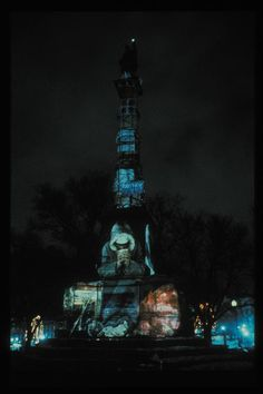 Krzysztof Wodiczko, Homeless Projection: The Soldiers and Sailors of Civil War Memorial, 1987