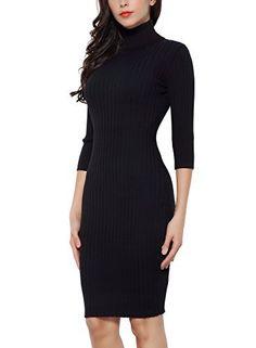 VESTIDO DE PUNTO   Vestido para ocasiones casuales.  Deslumbra estilo sensual con este vestido de manga larga.  Efecto sexy y chic marcando tendencia.  Disponible color Negro y Gris.  DESCUENTO >51 % ENVIO GRATIS