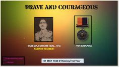 Sub Maj Shyam Mal displayed conspicuous gallantry & inspiring leadership in keeping the highest traditions of Army awarded #http://VirChakrapic.twitter.com/Laiq3JG7Nr #IndianArmy #Army