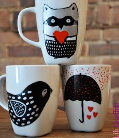 draw it by yourself on any cup you like