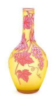 A Thomas Webb Sons Cameo Glass Vase Heigh 10 34 inches by Thomas Webb and Sons Co.