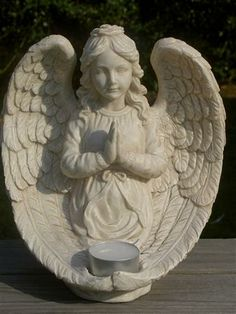 Angel Tealight Holder Garden Ornament from Absolute Angels Lovely ornament of an Angel with her hands clasped in prayer  £16.50