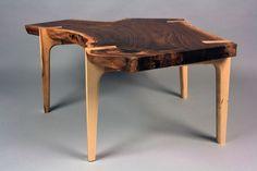 Custom Made Live Edge Walnut Coffee Table