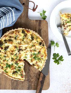 Tærte med kylling og grønt - opskrift på lækker kyllingetærte