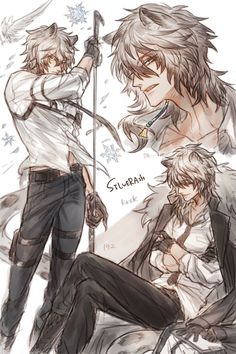 Handsome Anime Guys, Hot Anime Guys, Cute Anime Boy, Epic Characters, Fantasy Characters, Character Design Inspiration, Art Inspiration Drawing, Silver Ash, Anime W