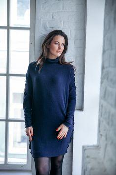 Платье свитер, короткое