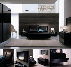 Modern bedroom furniture is uniquely designed to match the practicality of modern life's minimalism. What colors are more practical than black and white to suit modern bedroom furniture design? Black Bedroom Design, Black Bedroom Furniture, Contemporary Bedroom Furniture, Bedroom Designs, Girls Furniture, Contemporary Sectionals, Modern Contemporary, Modern Beds, Modern Bedrooms