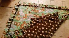 Safari theme tie blanket back side