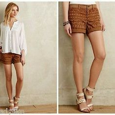 I just discovered this while shopping on Poshmark: Anthropologie Embroidered Chino Shorts. Check it out! Price: $27 Size: 32