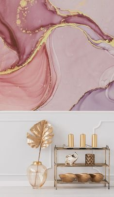 This stunning Pink and Gold Swirl wallpaper will look spellbinding in your bedroom or your teenager's bedroom. Do you own a beauty salon or hairdressers? Do you feel like this marble-effect watercolour mural would add a wow factor for your customers?This swirling pink wallpaper is soothing to the eye and makes you feel calm and relaxed. Pink aesthetics is so on trend! Discover more home decor ideas and beautiful wallpaper murals from Wallsauce! #wallpaper Where to buy pink wallpaper. Salon Wallpaper, Wallpaper Murals, Bedroom Wallpaper, Wall Murals, Iphone Wallpaper, Pink Marble Wallpaper, Marble Wallpapers, Pink And Gold Background, Pink Salon