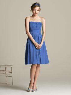Real Weddings: Christina   Brent | Blue bridesmaids, Wedding ...