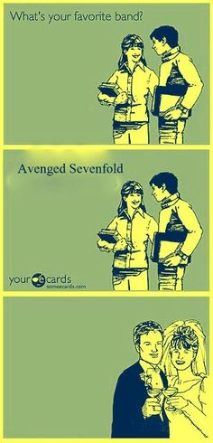 Yup, this is how it went down #AvengedSevenfold
