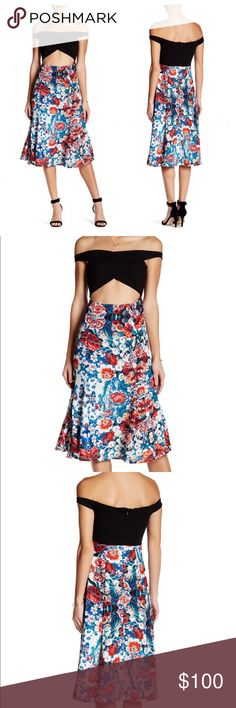 """NBD Dresses Criss Cross Floral Cutout Dress S New with tags. Size small. Details - Front crisscross - Sleeveless - Front cutout - Back zip closure  - Floral print detail - Pleated hem - Approx. 43"""" length - Imported Fiber Content Body: 68% rayon, 27% nylon, 5% elastane Trim and lining: 97% polyester, 3% elastane Care Hand wash cold Additional Info Fit: this style fits true to size.  Model's stats for sizing: - Height: 5'10"""" - Bust: 32"""" - Waist: 24"""" - Hips: 34"""" Model is wearing size S. NBD…"""