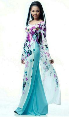 teal flowing dress