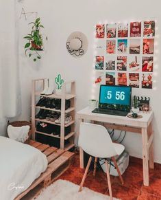 30 Approved Decorating Ideas * in the pays-des-fleu . - 30 Approved Decorating Ideas * in-the-land-of-flowers … - Room Ideas Bedroom, Bedroom Decor, Bedroom Inspo, Men Bedroom, Girl Bedrooms, Teenage Bedrooms, Teenage Room, Bedroom Inspiration, Cute Room Decor
